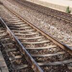 Schienen des Bahnhofs Speising in Hietzing