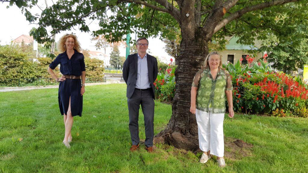 Das Photo zeigt die Mag. Alice Bader, Dr. Stephan Messner und Dipl. Ing. Helia Mader-Schwab